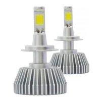 Kit Lâmpada Super Led Headlight 2D H7 6200K 12V Branca