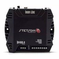 Módulo Amplificador Digital Stetsom Iron Line IR 400.4 400W Rms 4 Canais 2 Ohms