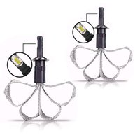 Kit Lâmpada Led Headlight Malha Flexível H1 4000 Lumens Super Branca 12V 24V