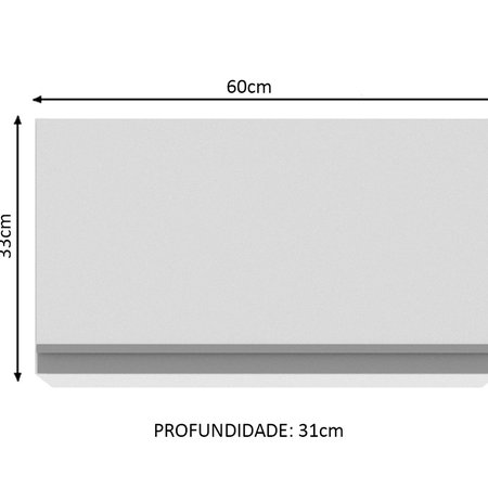 Aéreo Madesa Glamy 1 Porta Suspensa, G2560209GL