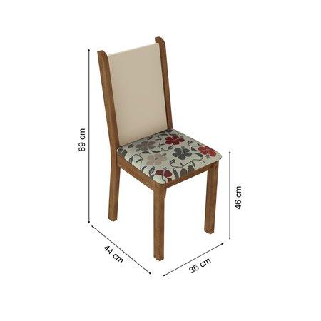 Kit 4 Cadeiras 4291 Madesa