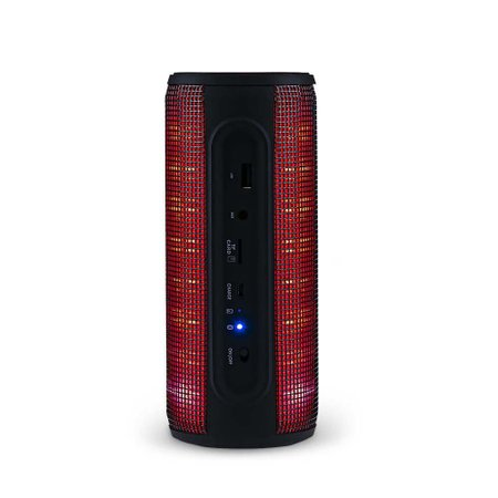Caixa De Som Led Bluetooth 10W USB/SD/AUX Preto Multilaser - SP304