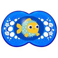 Chupeta Crystal Azul Peixinho 6+ meses Tam. 2 - MAM