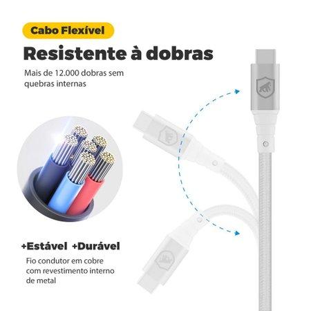Cabo Tech Proof Prata Micro USB V8 (1,2m) - Gorila Shield