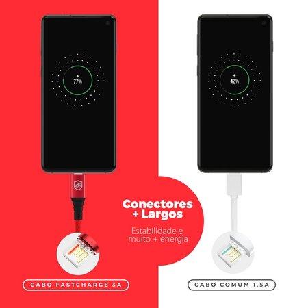Cabo Tech Proof Vermelho Micro USB V8 (1,2m) - Gorila Shield