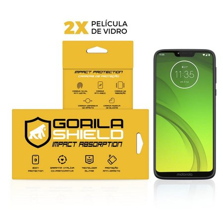Película de Vidro Dupla para Moto G7 Power - Gorila Shield