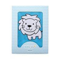 Manta Soft Bordada Leãozinho Azul - Baby Joy