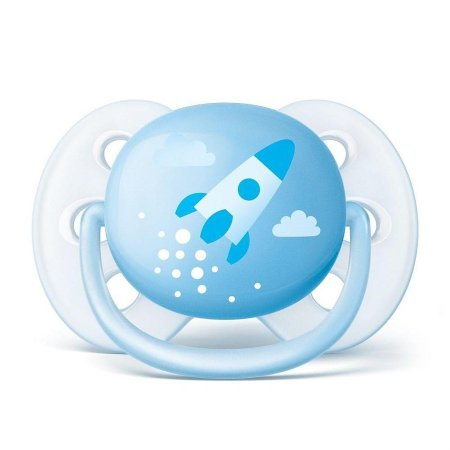 Chupeta Ultra Soft 0-6 Meses Foguete Azul - Philips Avent