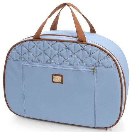 Kit 02 Bolsas Mala Maternidade Bombom Azul Bebê - Hug Baby