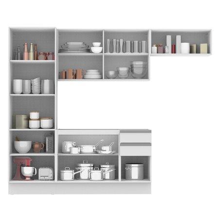 Cozinha Compacta Madesa 100% MDF Acordes Glamy Com Armário e Balcão