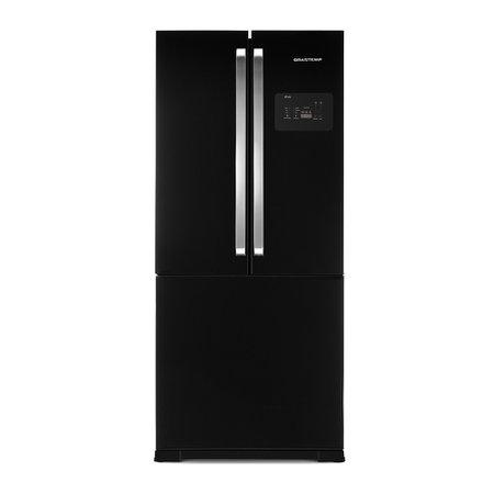 Refrigerador Brastemp Side By Side Inverse Black 540 Litros BRO80AEANA