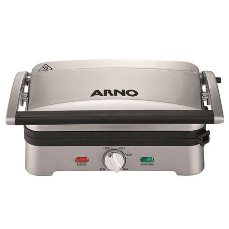 Grill Arno Destacável Premium com Antiaderente Inox GPRE