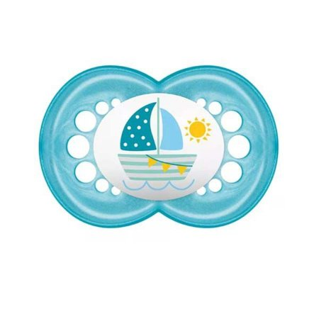 Chupeta Pearl Azul Barquinho - MAM