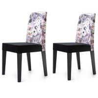 Cadeira Jantar Estampada Cartas 2 Unidades KING50E - King Móveis