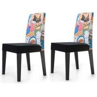 Cadeira Jantar Estampada Desenho Animado 2 Unidades KING50E - King Móveis
