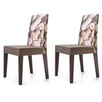 Cadeira Jantar Estampada Rolhas 2 Unidades KING50E - King Móveis