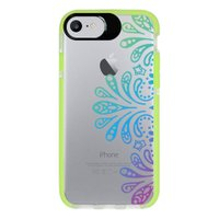 Capa Personalizada Intelimix Intelishock Verde Apple iPhone 7 - Mandala - TP259