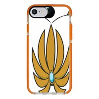 Capa Personalizada Intelimix Intelishock Laranja Apple iPhone 7 - Nostalgia - NT75