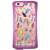 Capa Intelimix Velozz Roxa Apple iPhone 6 6S Flamingos - TP318