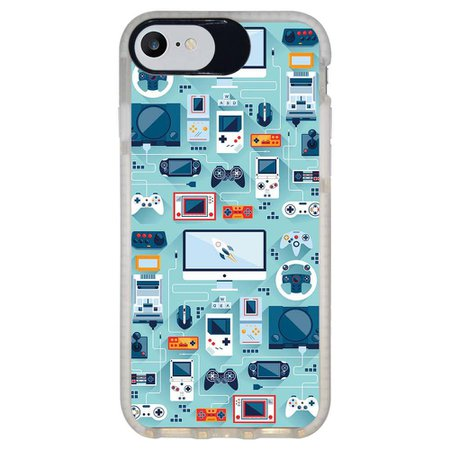 Capa Personalizada Intelimix Intelishock Branca Apple iPhone 7 - Vintage - VT13