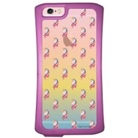 Capa Intelimix Velozz Roxa Apple iPhone 6 6S Unicórnios - TP307