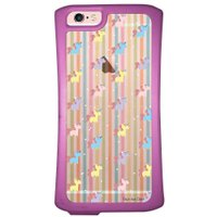 Capa Intelimix Velozz Roxa Apple iPhone 6 6S Unicórnios - TP310