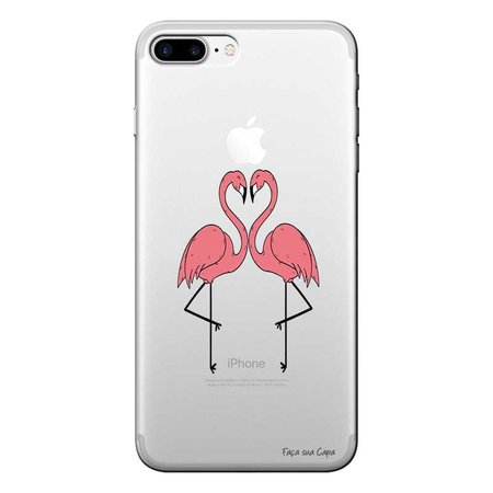 Capa Personalizada para Apple Iphone 7 Plus Casal Flamingos - TP316