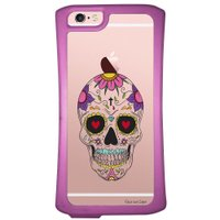 Capa Intelimix Velozz Roxa Apple iPhone 6 6S Caveira Mexicana - TP242