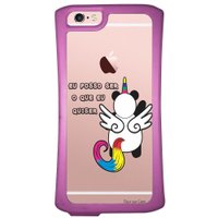 Capa Intelimix Velozz Roxa Apple iPhone 6 6S Unicórnio - TP186