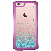 Capa Intelimix Velozz Roxa Apple iPhone 6 6S Corações - TP172