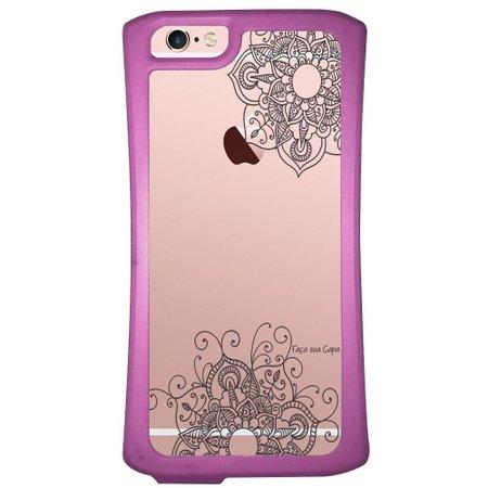 Capa Intelimix Velozz Roxa Apple iPhone 6 6S Mandala - TP255