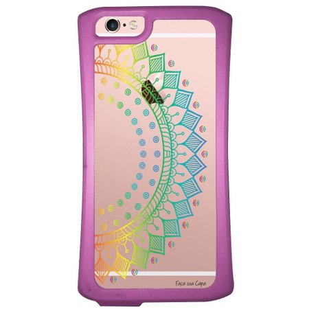 Capa Intelimix Velozz Roxa Apple iPhone 6 6S Mandala - TP252