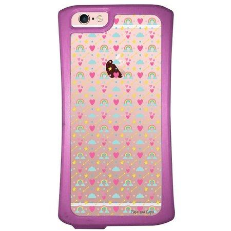 Capa Intelimix Velozz Roxa Apple iPhone 6 6S Corações - TP244
