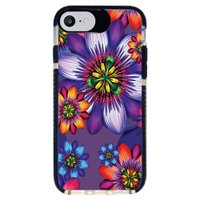 Capa Personalizada Intelimix Intelishock Preta Apple iPhone 7 - Florais - FL10
