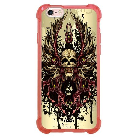 Capa Intelimix Anti-Impacto Rosa Apple iPhone 6 6s Caveira - CV14