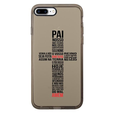 Capa Intelimix Intelislim Grafite Apple iPhone 7 Plus Religião - TP348