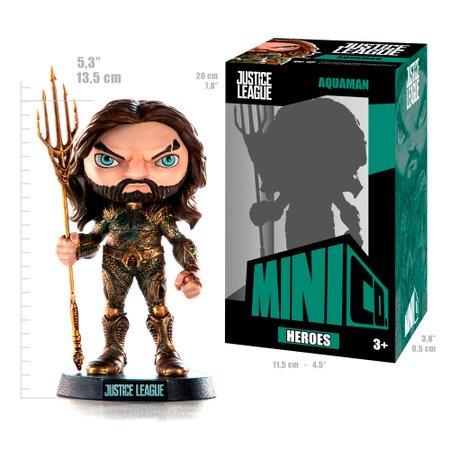Figura Aquaman Liga da Justiça Mini Heroes - Mini Co