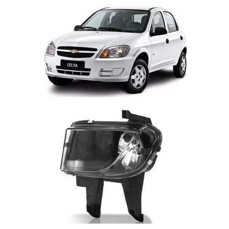 Farol de Milha Chevrolet Celta Prisma 2007 a 2010 Lado Esquerdo