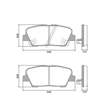 Jogo Pastilha de Freio Traseira Fras-Le Hyundai Genesis Santa Fé Santa Fé Kia Mohave