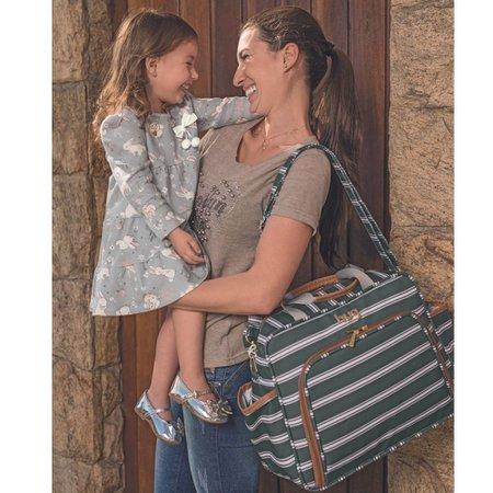 Bolsa Maternidade Lisboa G Cinza - Hug Baby