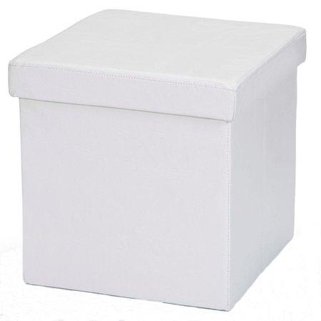 Kit 04 Puffs Baú Desmontável Para Sala Quarto Corino - Lyam Decor