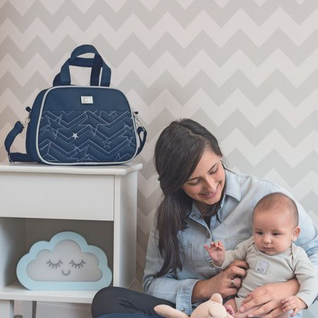 Kit 02 Bolsas Maternidade Pop Star Azul Marinho - Hug Baby