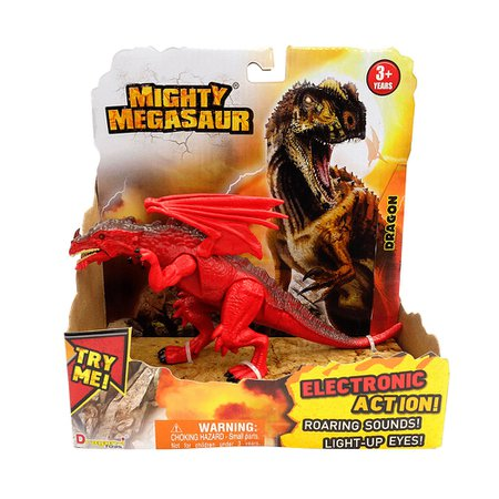 Mighty Megassauro Feroz 20cm Dragon - Fun Divirta-se