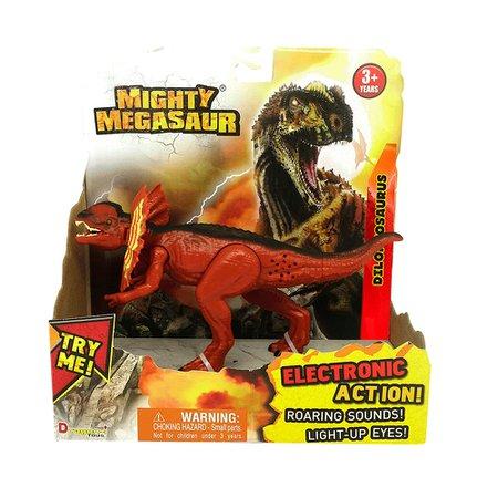 Mighty Megassauro Feroz 20cm Dilophosaurus - Fun Divirta-se