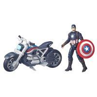 Boneco Capitão América com Veículo Série Legends - Hasbro
