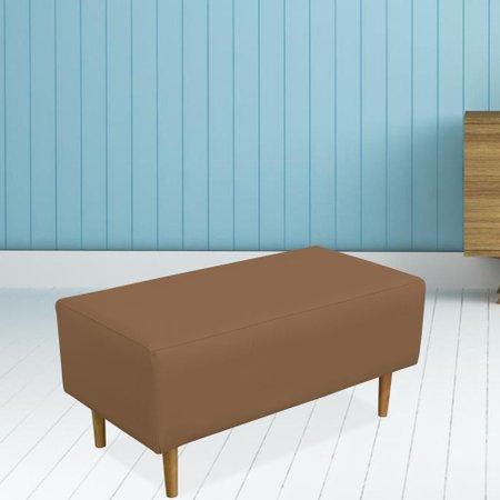 Kit 02 Puffs Decorativo Sala de Estar Cléo Pés Palito 90 cm Corino - Lyam Decor
