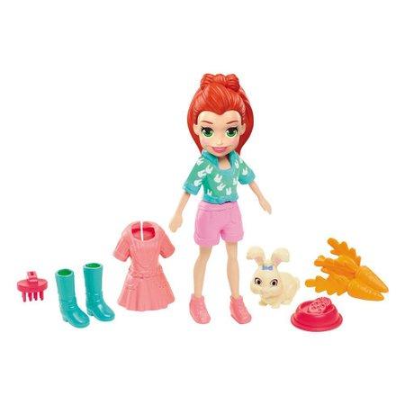 Polly Pocket Lila com Bichinho - Mattel