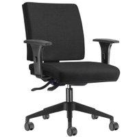 Cadeira de Escritório Diretor Giratória Executiva Simple Tecido Crepe Preto - Lyam Decor