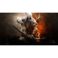 Mouse Pad Gamer 700x350x3 mm Base Antiderrapante Assassino Exbom MP-7035C