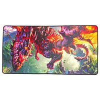 Mouse Pad Extra Grande Gamer 700x350x3mm Base Antiderrapante Dragão Voador Exbom MP-7035C